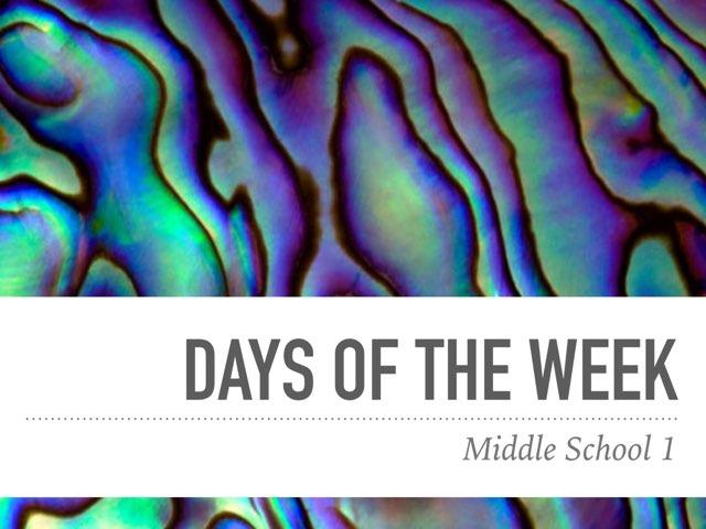 MiddleSchool1-US-DaysoftheWeek-test by Teeny Tiny TEFL