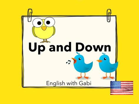 Up And Down- Prepositions by English with Gabi אנגלית עם גבי