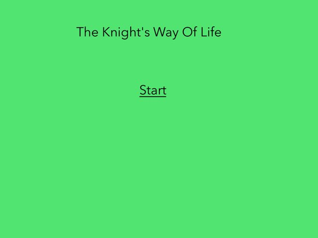 The Knight's Way Of Life by 3NM iPad