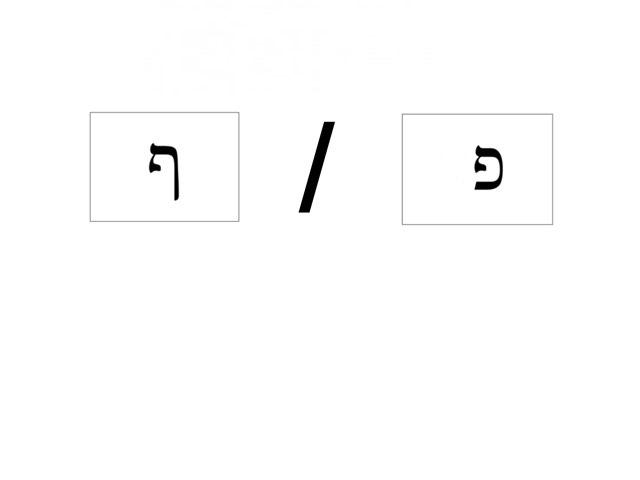 פ , ף , פּ by Talia Menahem