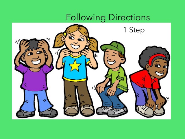 Follow One Step Directions  by Carol Smith