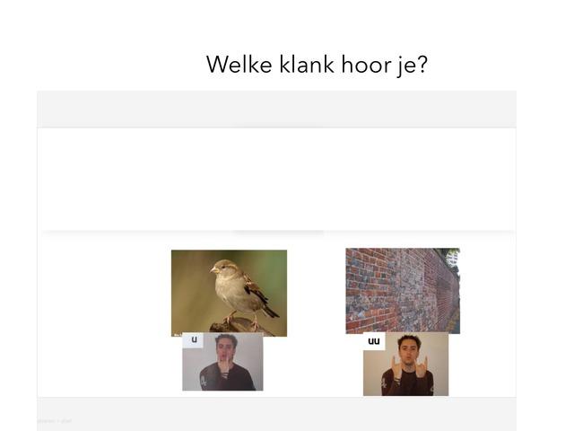 Klanken U Uu by Jaap van Oosteren