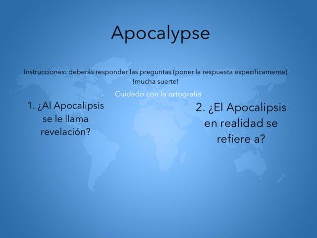 Apocalypse  by Sofia Barrientos