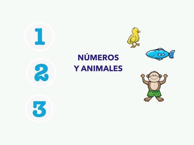 Números 1 2 3 Y Animales by Francisca Sánchez Martínez