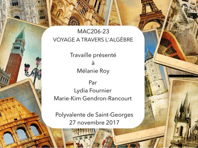 Voyage A Travers L'algèbre by Mariekim Gendron-rancourt