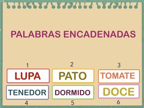 PALABRAS ENCADENADAS. by Jose Sanchez Ureña