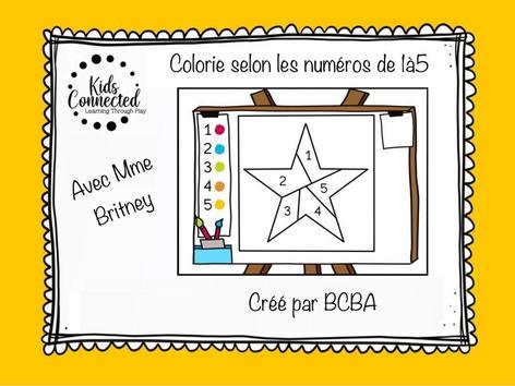 Kit de peinture par numéros de 1 à 5 . L'étoile 1 by Kids  Connected