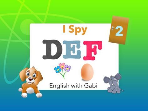 I-Spy 2: DEF Letter Sounds by English with Gabi אנגלית עם גבי
