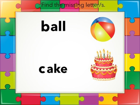 Find the missing letters by Classroom Advantage