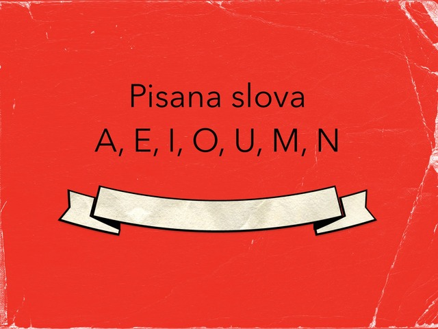 Pisana Slova AEIOUMN by natasa delac