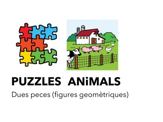 Animals 6_Puzzles Peces Formes Geomètriques by Escola Joan23