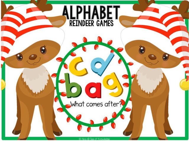 Reindeer Games - Alphabet Before And After by Yara Habanbou