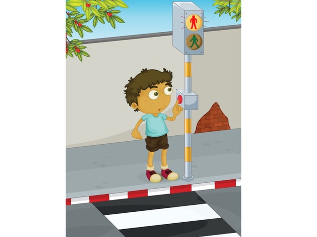רמזור להולכי רגל by בית ספר אגם