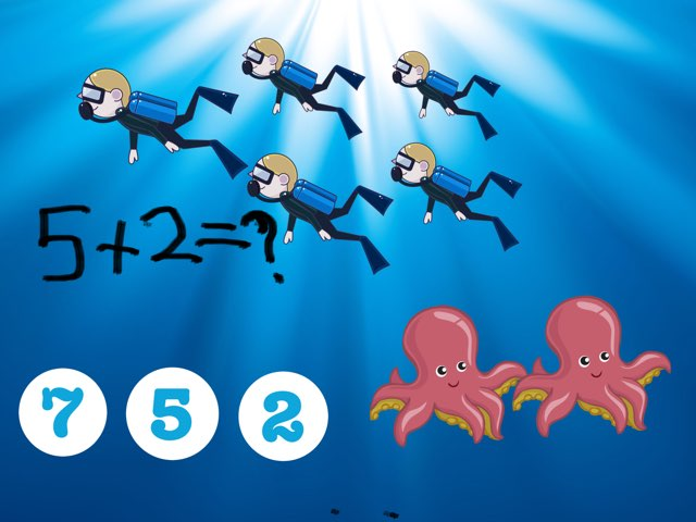 Deep Sea Math by Elm School Grade One
