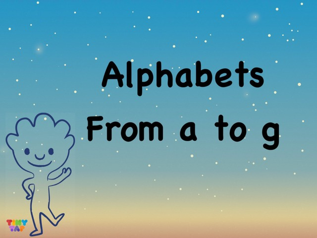 Alphabets from a to g by Hui Qi Ng