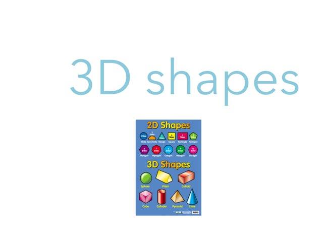 3D SHAPES by Krystal Wiggins