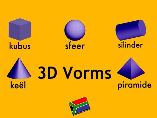 3D Vorms In Afrikaans by Juffer Juffrou