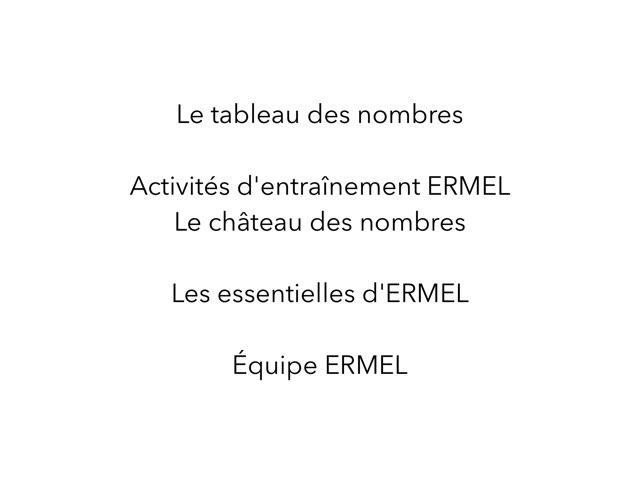 Le Tableau Des Nombres ERMEL by Fabien EMPRIN
