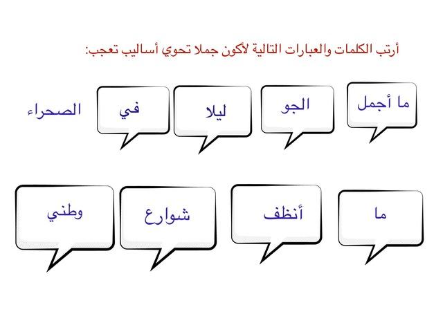أسلوب التعجب لغتي خامس الفصل الأول by منيرة الحربي