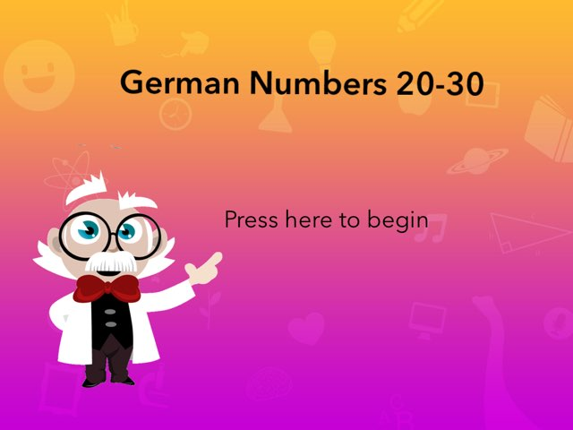 German Numbers 20-30 by Josh Dobos