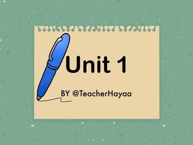 Unit 1 - It's a pen  by Haya Althawadi