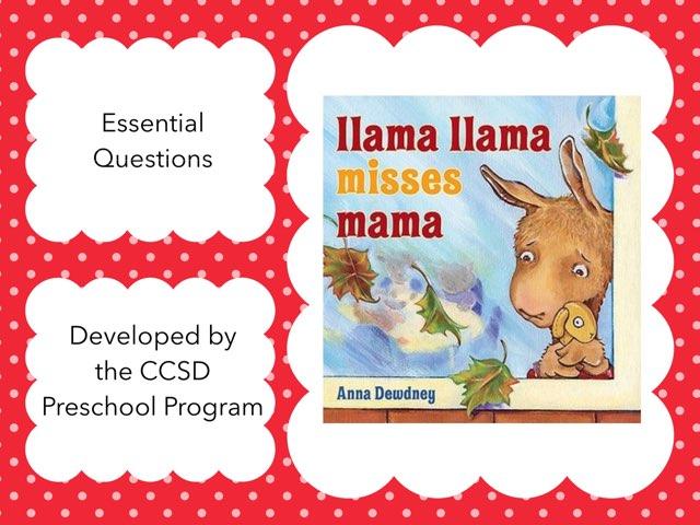 EQs for Llama Llama Misses Mama by Anna Ray