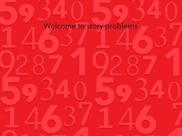 Story Problems  by Derrick Thompson