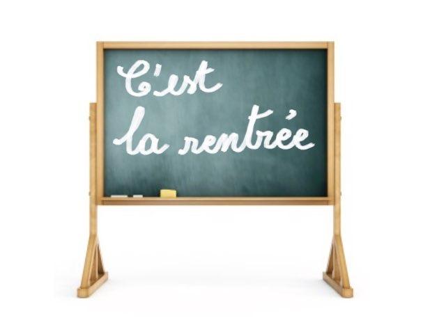 C'est La Rentrée !  by martine freymann