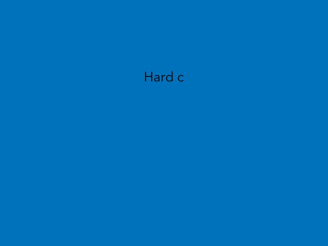Hard C by Resource Room