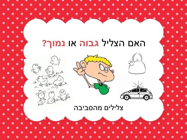 זיהוי צליל גבוה או נמוך by Yael Eilat