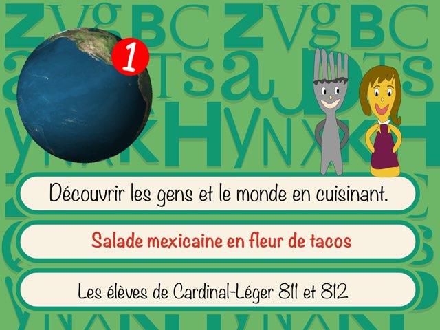 Salade mexicaine en fleur de tacos by Sylvianne Parent