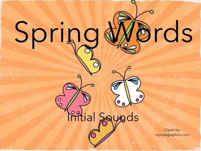 ELEM DPISD - Spring Words PWE  by Cynthia Ramirez