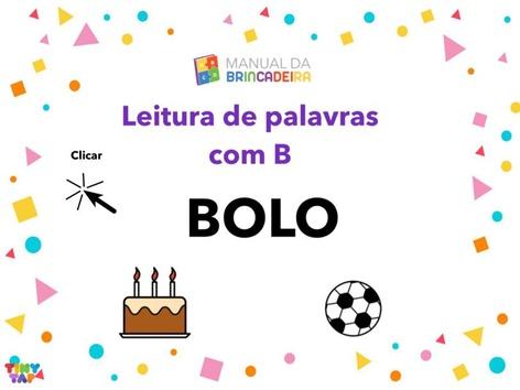 Leitura de Palavras com B - Manual da Brincadeira by Manual da Brincadeira