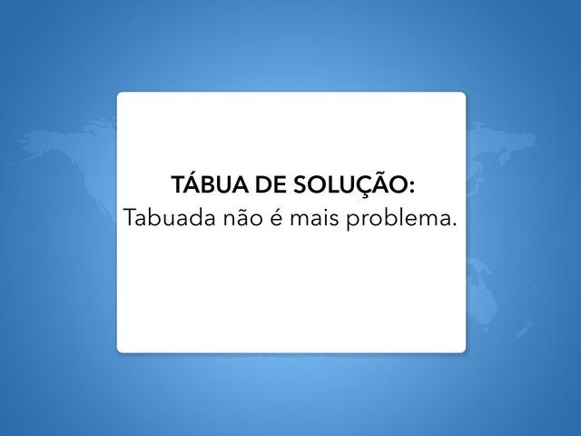 Tábua de Solução  by Cassia Regina