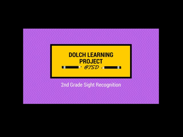 Sign ID 3: Dolch 2nd Grade by TSD Library