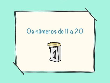 Os números de 11 a 20 by Raquel