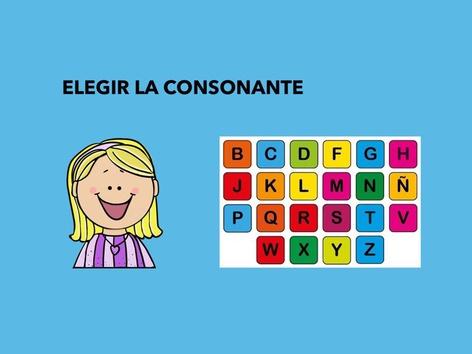 ELEGIR LA CONSONANTE  by Francisca Sánchez Martínez