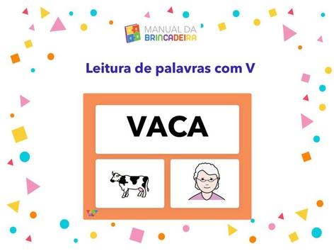 Leitura De Palavras Com V -Manual Da Brincadeira  by Manual Da Brincadeira Miryam Pelosi