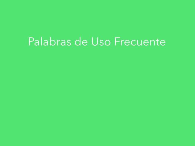 Palabras De Uso Frecuente by Eva Hernandez