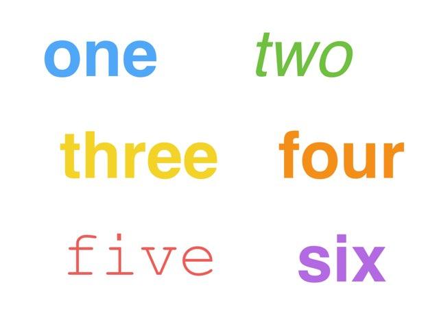 Coloured Numbers by Ann Razdorskaya
