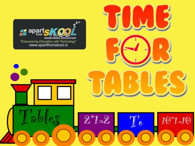 Tables 2 To 10 by TinyTap creator