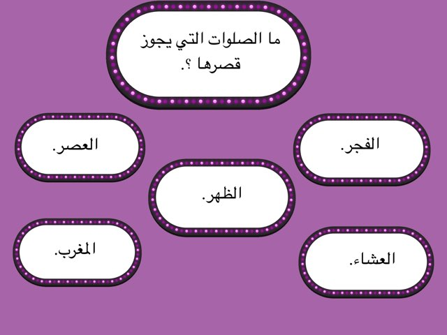 الصلوات التي يجوز قصرها by Hind Alghamdii