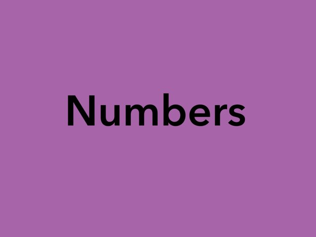 Numbers For Kids by Katie Norman Towers