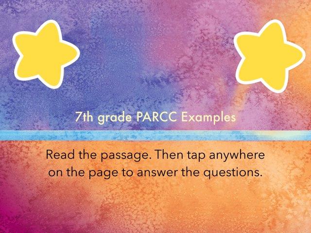 7th Grade PARCC Practice by Kim Mollerdino