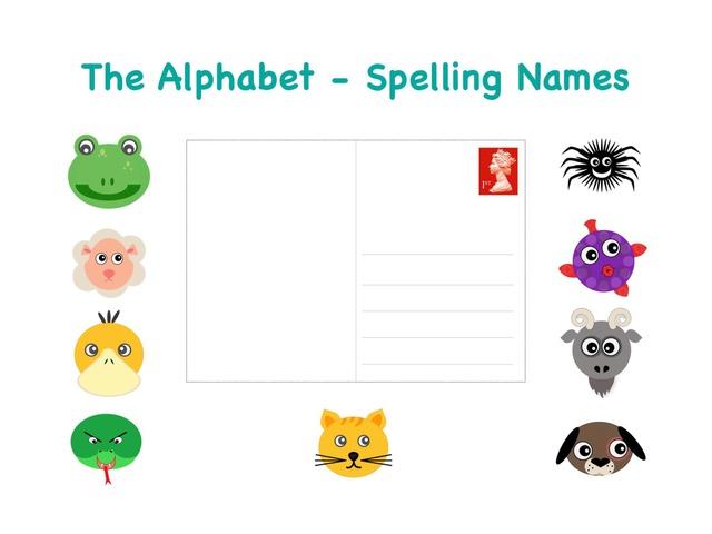 Spelling Names - The Alphabet by Teeny Tiny TEFL