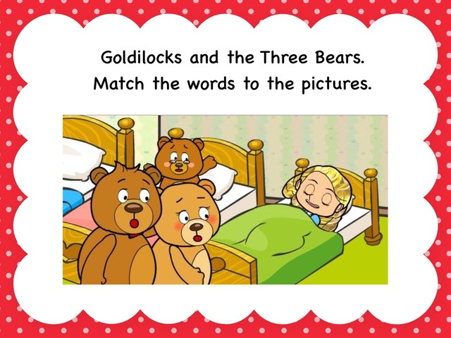 Goldilocks Word Match by Victoria Benn