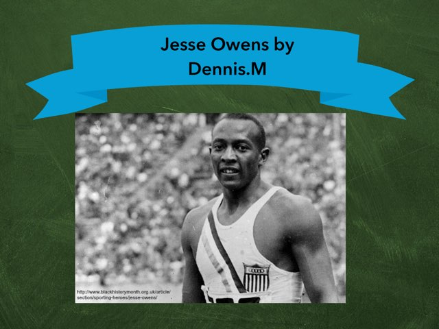 Jesse Owens By Dennis.M by Christine Snow