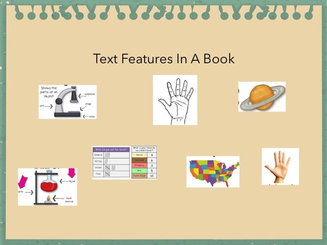 Lussier text features by Hulstrom 1st Grade