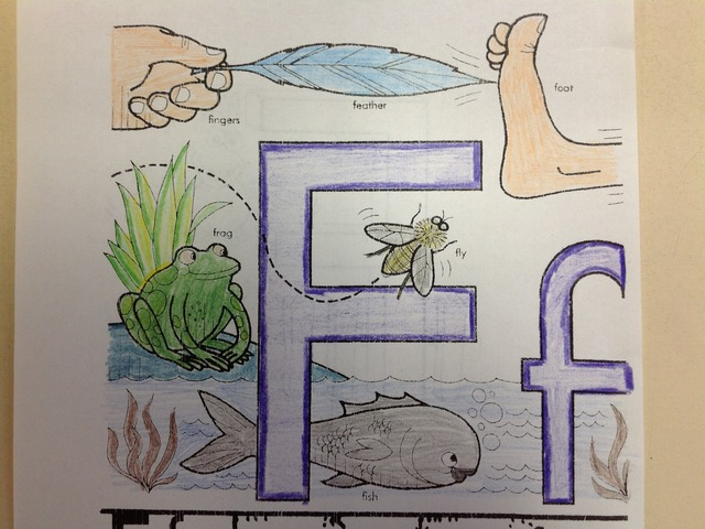 Letter F by Christine Snow