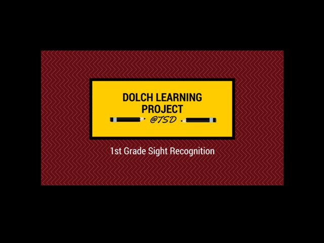 Vocabulary Introduction 2: Dolch 1st Grade by TSD Library